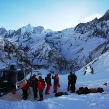 Lawinenuebung Annapurna